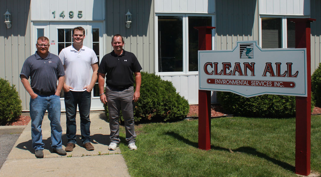 Project Managers for Clean All's Disaster Restoration  Division - Pictured (left-to-right) are Rob Hayward, Nathaniel Cardinal, and Larry Valade